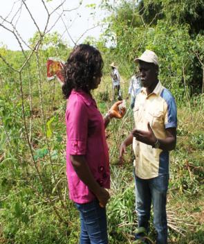 NRCRI staff interviewing Mr. Magangi